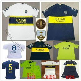 698cb8bfe 2019 Boca Juniors Soccer Jerseys Gago Perez 7 Pavon 10 Carlitos TEVEZ  CARDONA BENEDETTO Custom Home Away Adult Kids Youth Football Shirt