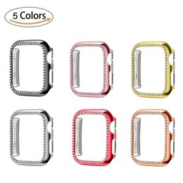 $enCountryForm.capitalKeyWord Australia - Apple Watch Case 40mm 44mm 38mm 42mm,Series 4 3 2 1 iWatch Face Cover with Bling Crystal Diamonds Shiny Rhinestone Bumper Frame for Women