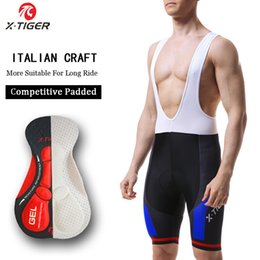 coolmax cycling Australia - X-tiger 8 Colors Cycling Bib Shorts Summer Coolmax 5d Gel Pad Bike Tights Mtb Ropa Ciclismo Moisture Wicking Bicycle Pants