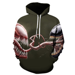 Sell Digital Products Australia - BZPOVB New Hot Selling New Product Miracle Movie Venom 3D Digital Printing Men's and Women's Hoodies Combat Monsters Hoodies