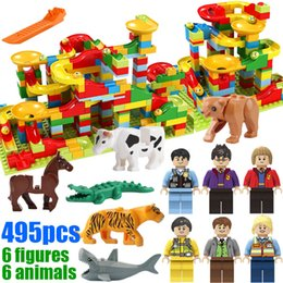 Marble Building Blocks Australia - 495pcs with gifts Small Size Marble Run Set Puzzle Maze Race Track Game Toy Roller Coaster Construction Building Block Brick Toy