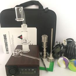 Barato portátil ENail eléctrico Dab Nail Pen Rig Cera PID TC Box Con Ti Titanium Domeless Coil Eeater Kit de uñas de cuarzo silicona almohadilla
