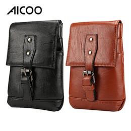 Fine men online shopping - AICOO Inch Universal Men Mobile Phone Bag PU Lychee Fine Grain Oblique Cross Hanging Waist Dual use Package OPP Bag