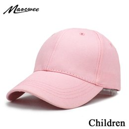 $enCountryForm.capitalKeyWord Australia - Kids Solid Color Children Snapback Caps Baseball Cap With Spring Summer Hip Hop Boy Girl Baby Hats For 3-8 Years Old