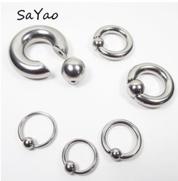 $enCountryForm.capitalKeyWord NZ - 2 Pieces Big Stainless Steel Captive Hoop Rings BCR Eyebrow Tragus Ear Piercing Nose Closure Nipple Bar Lips Body Jewelry