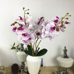 $enCountryForm.capitalKeyWord Australia - 1 Set=5 Flower Branches + 2 Orchid Stems, Real Touch Latex Artificial Flowers Flores Butterfly Orchid Home Wedding Decoration