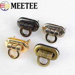 Apparel Sewing & Fabric 2018 New 2pcs Light Gold Round Metal Bag Buckle Handbag Twist Turn Lock Snap Clasp Closure Diy Craft Accessory