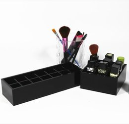 Chinese  2019 classic brand black Acrylic cosmetic Multifunction storage boxs Makeup brush Lipstick lip gloss storage box Wedding Gift (Anita Liao) manufacturers