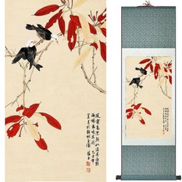 $enCountryForm.capitalKeyWord Australia - Birds And Flowers Murals Silk Rolling Traditional Chinese Painting House Decoration Painting 2019072003