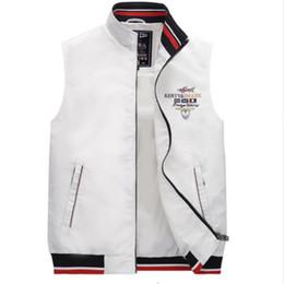 khaki collared vest 2019 - 2018 Eden Fashion Aeronautics jacket plus Size Vest Jacket Shark Autumn  winter Vest Men's Business Park Men M-4XL