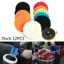 Thickness car online shopping - Sponge Polishing Pads Set cm quot Thickness For Car Polisher Buffer Set High Quality