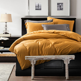 Bedsheet Cotton White Australia - Wholesale 4PCS Bedding Sets sheet Duvet Cover Pillowcase Bedsheet Home Decoration Boutique Embroidery Golden Thread Bedding Sheets