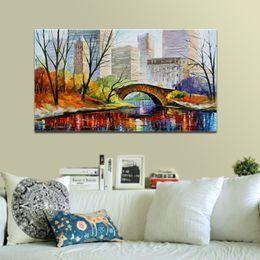 $enCountryForm.capitalKeyWord Australia - Hand Painted Leonid Afremov Palette Knife Painting Canvas Abstract Framed Painting Wall Art Living Room Bedroom Wall Decor