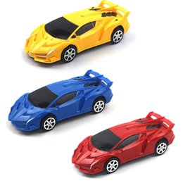 wholesale pull back toys Australia - Wholesale return car model plastic car children's educational racing toy gift
