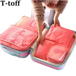 $enCountryForm.capitalKeyWord Australia - Nylon Packing Cube Travel Bag System Durable 6 Pieces One Set Large Capacity Of Unisex Clothing Sorting Organize