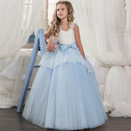 f124586df Baby girl clothes Bridesmaid Pageant Gown Dress Girl Kids Dresses For Girls  Teenager 8 10 12 14 Years Wedding Party Dress Lace Clothes
