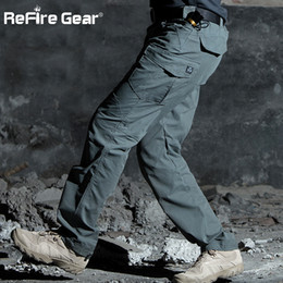 full military gear NZ - ReFire Gear M3 Waterproof Tactical Military Pants Men SWAT Special Army Combat Cargo Pants Multi Pocket Rip-stop Cotton TrousersMX190904