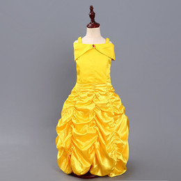 Wholesale outfits for parties online – ideas Baby Cosplay Outfits Bell Princess Dress Cosplay Belle Costume Kids Dress For Girls Party Birthday Girls Clothing M197