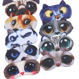 Wholesale Cute Cat Sleep Mask Eye Mask Eyeshade Cover Shade Natural Sleeping Eye Patch Women Men Soft Portable Blindfold Travel Eyepatch