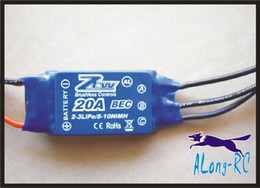 rc speed controller esc NZ - Free ship high quality ZTW AL20A 20A brushless ESC for RC airplane model hobby plane  spare part diy plane part