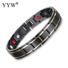 $enCountryForm.capitalKeyWord Australia - YYW Titanium Steel Jewelry Twisted Healthy Magnetic Magnet Bracelet For Women Power Therapy Magnets Bracelets Bangles For Men