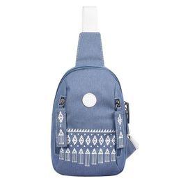 Strap Backpacks Australia - National Backpack Women Chest Shoulder Bagpack One Strap Sling Feminina Plecak For Teenage Girls Rucksack Travel Bags
