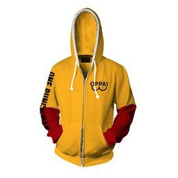 $enCountryForm.capitalKeyWord Australia - NEW Anime One Punch man Saitama Oppai Hoodies naruto hoodie Sweatshirt Cosplay Costume male Hoodies yellow long hoodie men