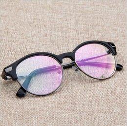 Clear Plastic Coating Australia - Vintage Unisex Hipster Vintage Retro Classic Half Frame Horned Rim Glasses Clear Lens Nerd Eyewear