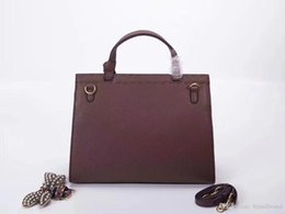 $enCountryForm.capitalKeyWord Australia - 2018 Famous G Totes bags luxury women Genuine leather Bags Fashion lady Handbag Factory wholesale Red dark brown