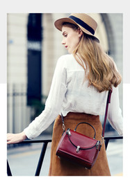 $enCountryForm.capitalKeyWord NZ - 0176European and American original new high-end cowhide fashionable wax lady single shoulder bag pure color simple cross shoulder bag