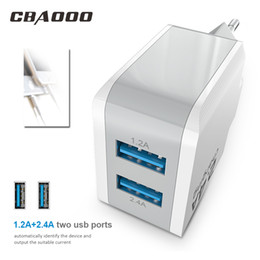 Discount eu mobile charger - CBAOOO EU Plug 2.4A Max Dual USB Fast Charger Tarvel for iPhone Charger for Samsung Xiaomi Mobile Phone Adapter