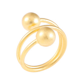 $enCountryForm.capitalKeyWord NZ - Fashion Golden Jewelry Gold Color Vintage New Design Brass Ring Ball Rings For Women