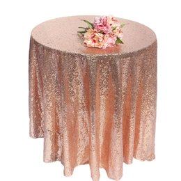 Champagne Tablecloth Wedding Australia - ome Textile Table Cloth Champagne god silver rose gold Sequin TableCloth Wedding Beautiful Champagne Sequin Table Cloth   Overlay  Cover ...