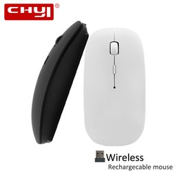 $enCountryForm.capitalKeyWord Australia - CHYI Wireless Mouse Rechargeable Silent Button Slim Gaming Mice 1600DPI Mute USB Optical Computer Ergonomic Mause With Mousepad