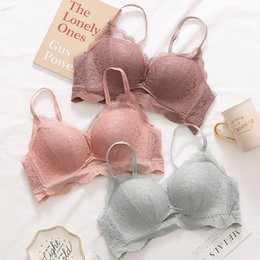 871569b3760 Sexy Women Bra Set Push Up Lace Underwear Set Solid thin Cup Intimate seamless  lingerie adjustable hollow out girls Bra and Panty Set