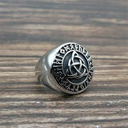 $enCountryForm.capitalKeyWord Australia - Nordic Pirate Polishing Rock Rings European and American Style Celtic Knot Ring the Vikings Magical Symbol Vintage Ring
