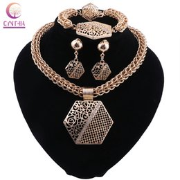 $enCountryForm.capitalKeyWord Australia - CYNTHIA Latest Best Quality Fashion Italian Jewelry Dubai Gold color Jewelry Sets African Women Pendant Necklace Jewellery