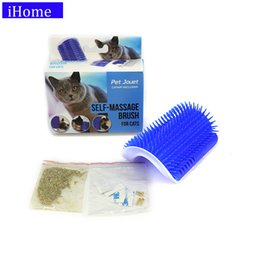 Toy Furniture Wholesale NZ - Pet Products Cat Massager Wipes Cute Fiddle Artifact Blue Furniture and Scratchers cats furniture play Toy for Cats Brush Comb D19011506