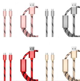 For Alloys Australia - Universal 3 in 1 Type c Usb Micro Cable Braided Nylon alloy usb data charging cable wire for samsung android phone 8