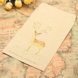 $enCountryForm.capitalKeyWord Australia - 5 10 50PCS Small Envelopes Retro Vintage Deer Animal Paper Envelope Scrapbooking Envelopes Stationery Card Scrapbooking Gift