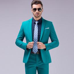 Chaqueta + Pantalones Marrón Verde Burdeos Negro Rosa Trajes Hombres 2018  Marca Slim Fit Novio Traje de Boda Fiesta de Moda Coreana Desgaste 9d4180d96bf4