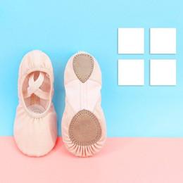 $enCountryForm.capitalKeyWord NZ - Professional Children Cotton Canvas Flexible Ballet Dance Shoes Girls Kids Soft Sole Flat Shoes For Dance