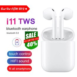 $enCountryForm.capitalKeyWord Australia - 1 PCS i11 tws Wireless Bluetooth Earphones headset Stereo Earbud Earphones With Charging Box For Apple iPhone For Android Mobile Phone