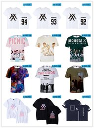 BTS Youpop KPOP mode coréenne T-shirt MONSTA X I.M JOOHEON MINHYUK SHOWNU T-shirt en coton T-shirt on Sale