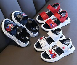 Baby Shoes Red White Australia - Summer Baby Boy And Girl Fashion shoes Leather Sandals Casual Shoes Beach Shoes Fashion Footwear Kids Sandals Black+Red+White 3 Piece