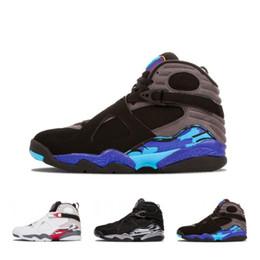 $enCountryForm.capitalKeyWord NZ - Hot 8 Valentines Day 8s Vday Playoff Aqua Black Chrome Countdown Pack Basketball Shoes Men 3 Peat White Aqua Sports Sneakers