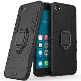 $enCountryForm.capitalKeyWord Australia - For Vivo V5 Plus Y66 Y67 V5+ V5plus Case Cover Hard Hybrid Armor Soft Silicone Edge Matte Finished Anti Fingerprint with Stand Foldable