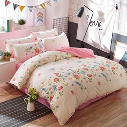 Dark grey beDDing online shopping - Classic bedding set size grey blue flower bed linen set duvet cover set Pastoral bed sheet AB side duvet cover
