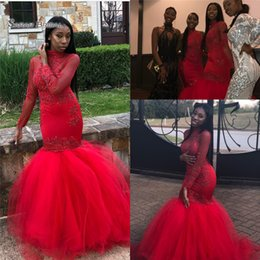 1f22706261a Pictures african dresses online shopping - 2019 Black Girls African Long  Mermaid Prom Dresses Long Sleeves