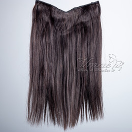 Discount flip human hair extensions - VMAE Peruvian Natural #1B #4 100g 120g 12 To 26 Inch Fish Line Straight Halo Flip In Virgin Human Hair Extensions